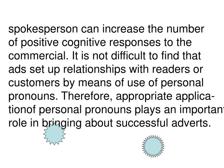 spokesperson can increase the number