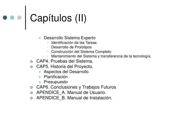 Capítulos (II)