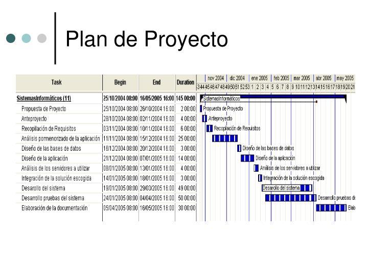 Plan de Proyecto
