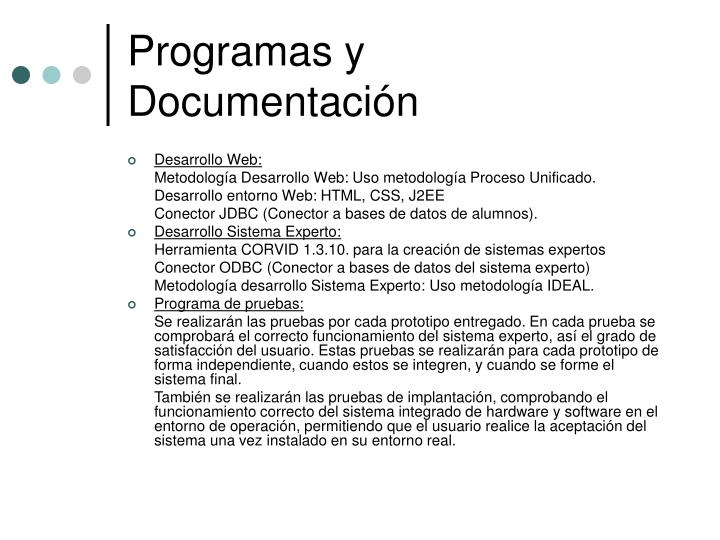 Programas y Documentación