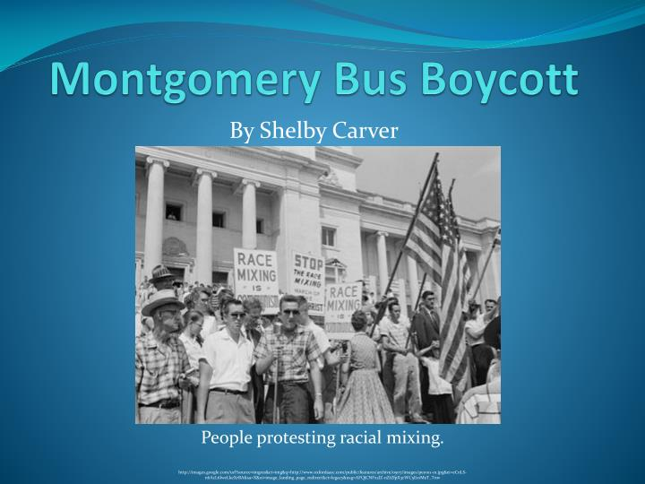 the montgomery bus boycott essay Writing on december 1st, 1955, one woman's refusal to move from a bus seat made a huge contribution to the civil rights movement as a matter of fact, it was almost as if she started it herself.