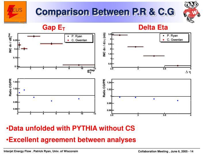 Comparison Between P.R & C.G