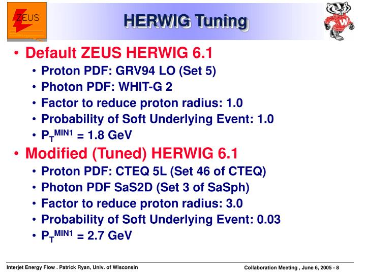 HERWIG Tuning