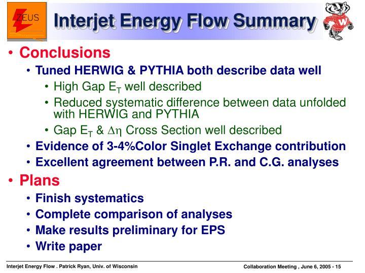 Interjet Energy Flow Summary