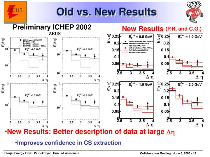 Old vs. New Results