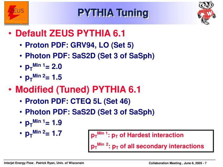 PYTHIA Tuning