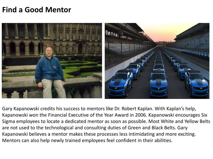 Find a Good Mentor