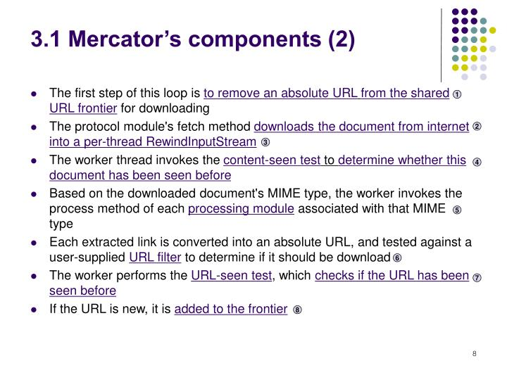 3.1 Mercator's components (2)