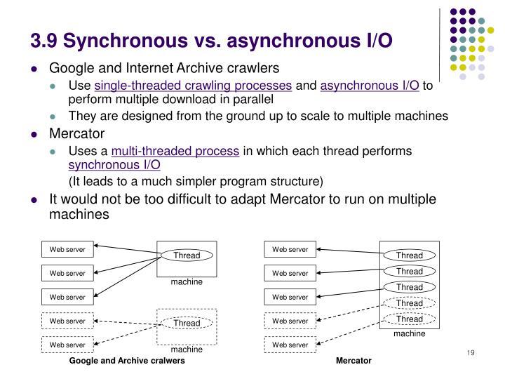 3.9 Synchronous vs. asynchronous I/O