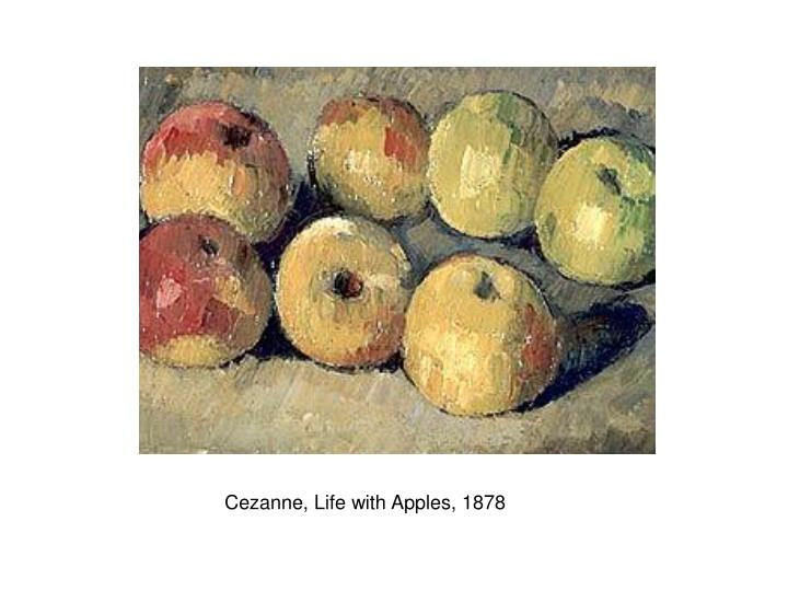 Cezanne, Life with Apples, 1878