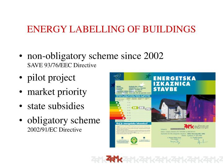 ENERGY LABELLING OF BUILDINGS