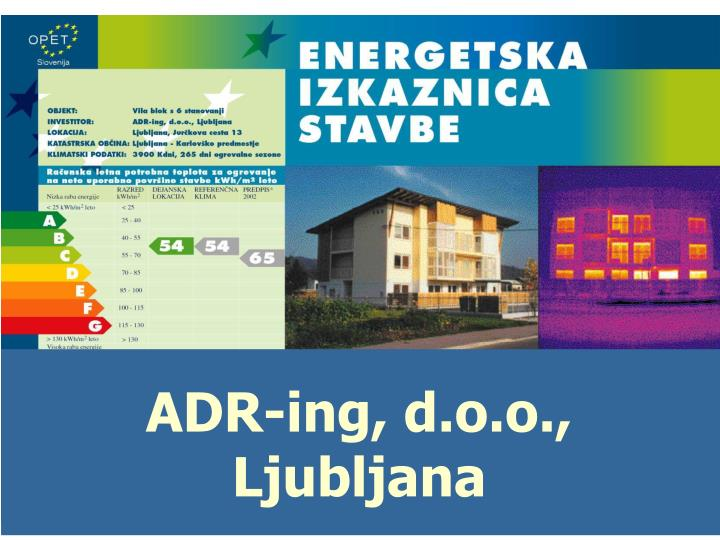 ADR-ing, d.o.o., Ljubljana