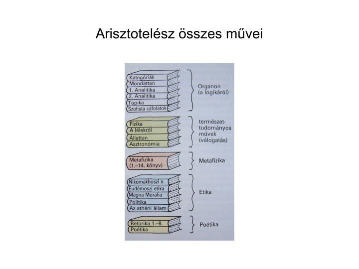Arisztotelész összes művei