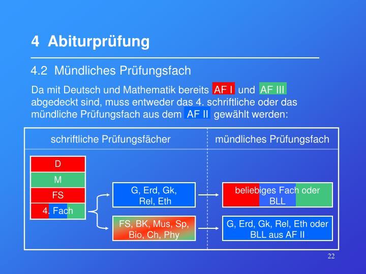 4  Abiturprüfung
