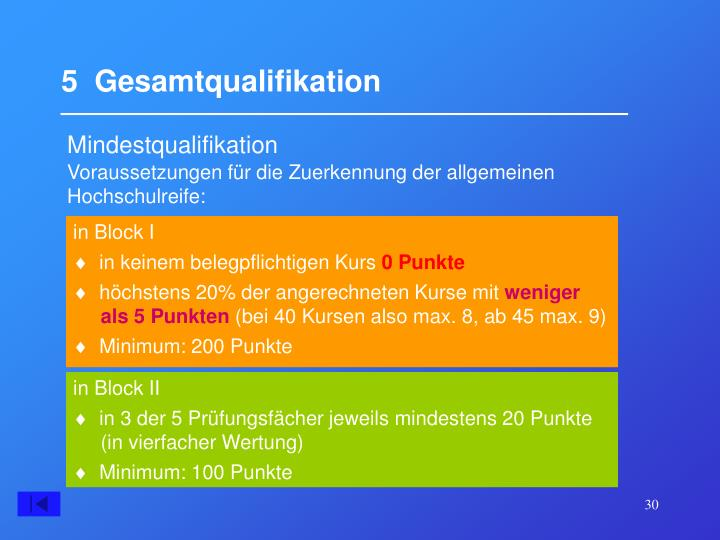 5  Gesamtqualifikation