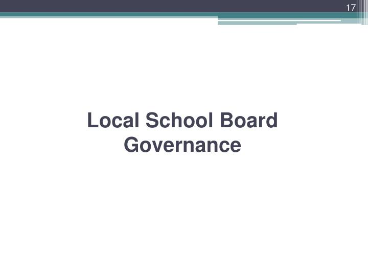 Local School Board Governance