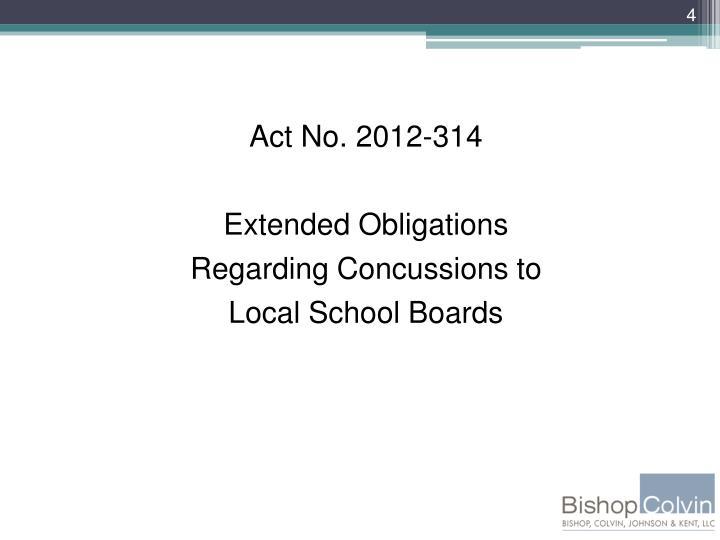 Act No. 2012-314