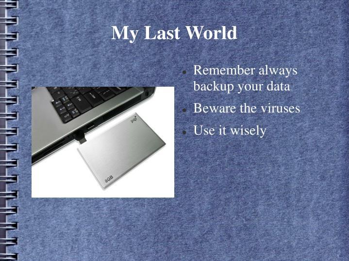 My Last World