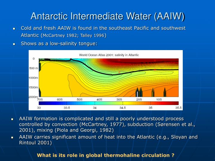 Antarctic Intermediate Water (AAIW)