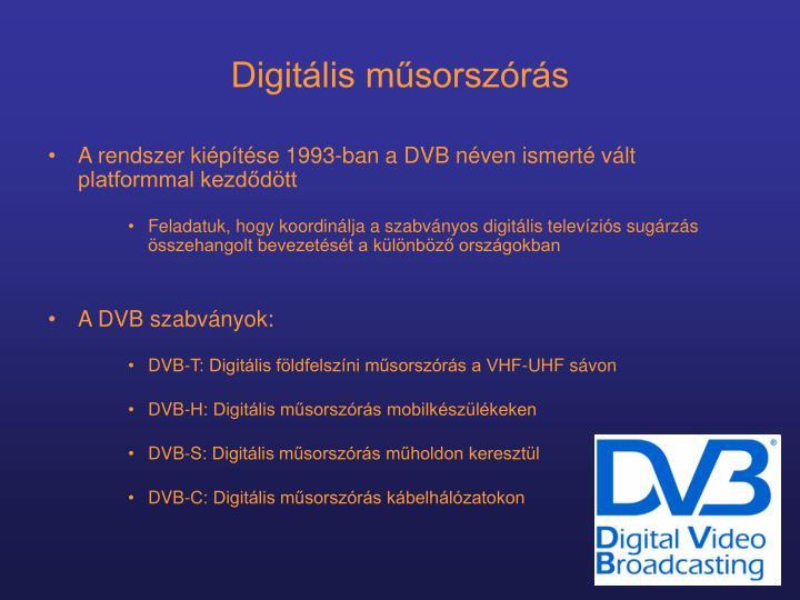 Digitális műsorszórás