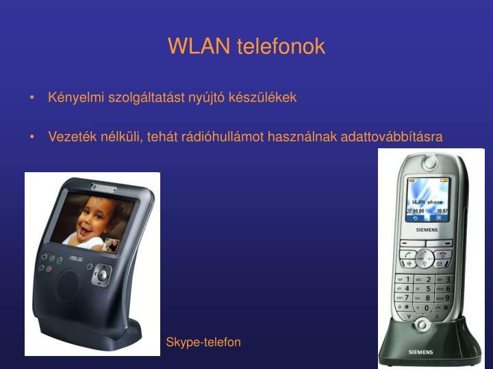 WLAN telefonok
