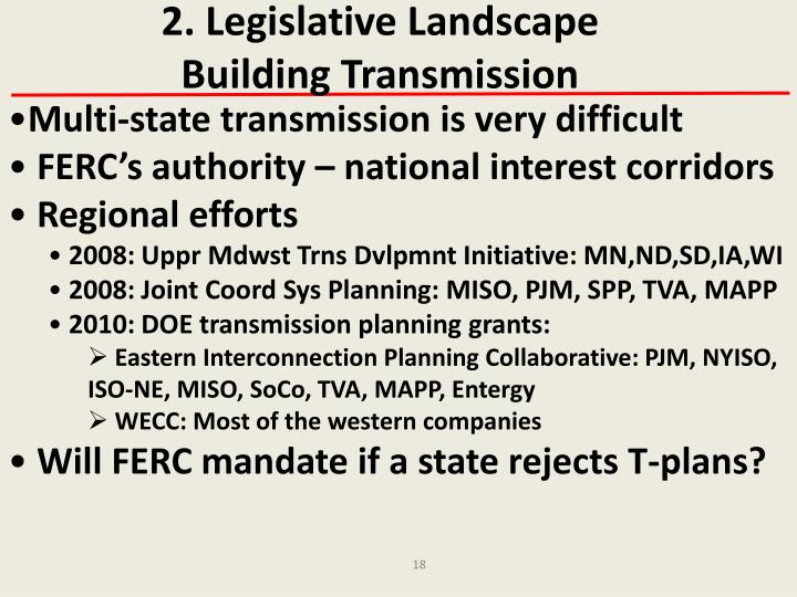 2. Legislative Landscape