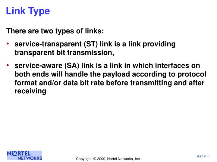 Link type