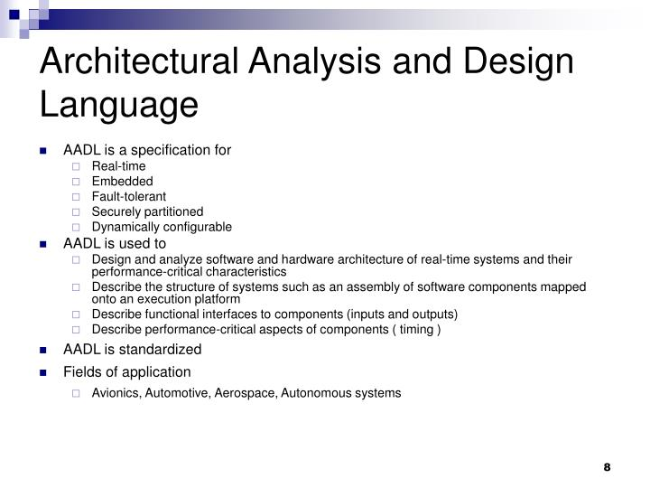 Ppt aadl powerpoint presentation id 4286247 for Architecture design language