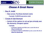 choose a great name