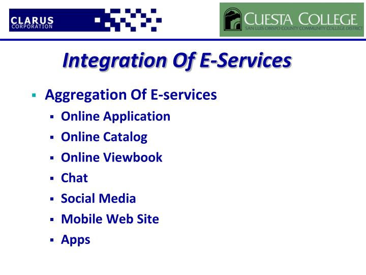 Integration Of E-Services