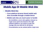 mobile app or mobile web site1