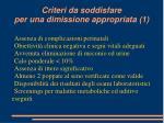 criteri da soddisfare per una dimissione appropriata 1