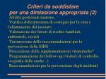 criteri da soddisfare per una dimissione appropriata 2