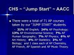 chs jump start aacc7