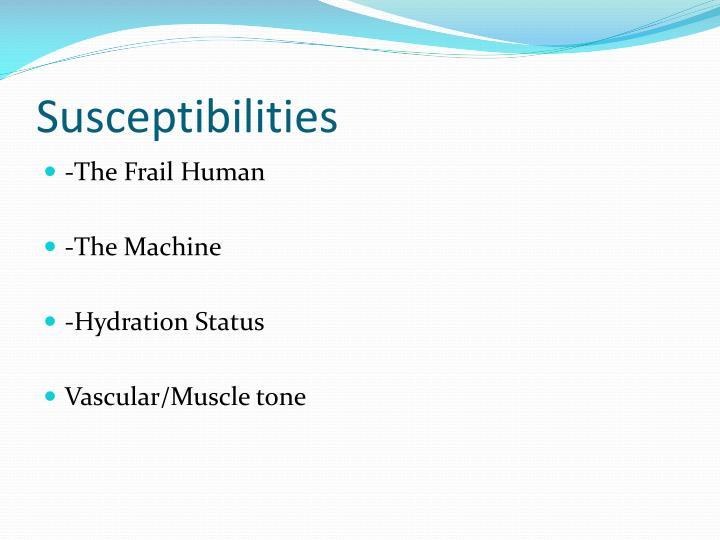 Susceptibilities