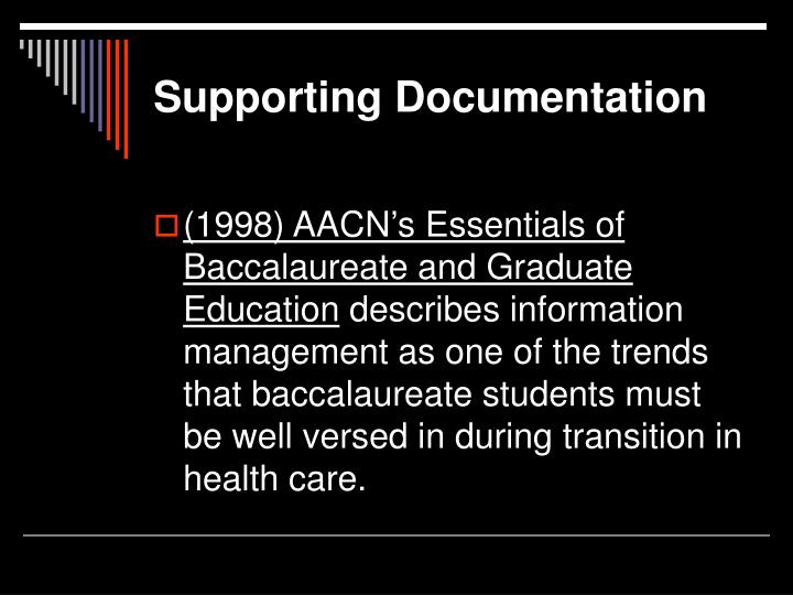 Supporting Documentation