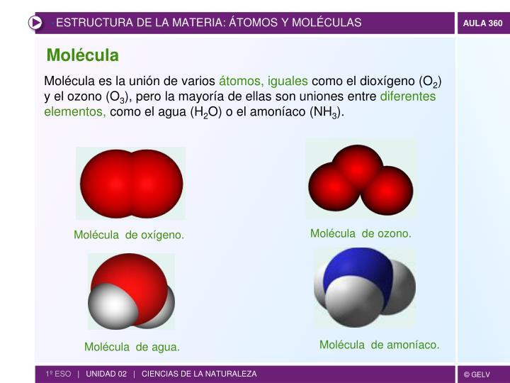 Molécula  de ozono.
