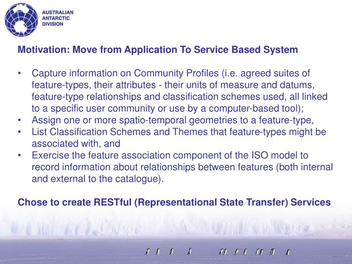 Motivation: Move from Application To Service Based System