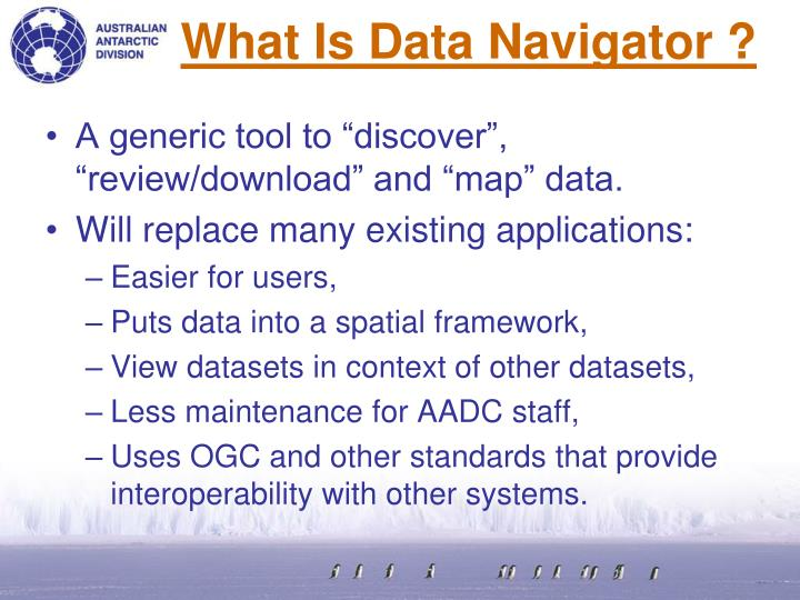 What is data navigator