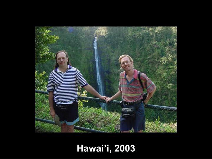 Hawai'i, 2003