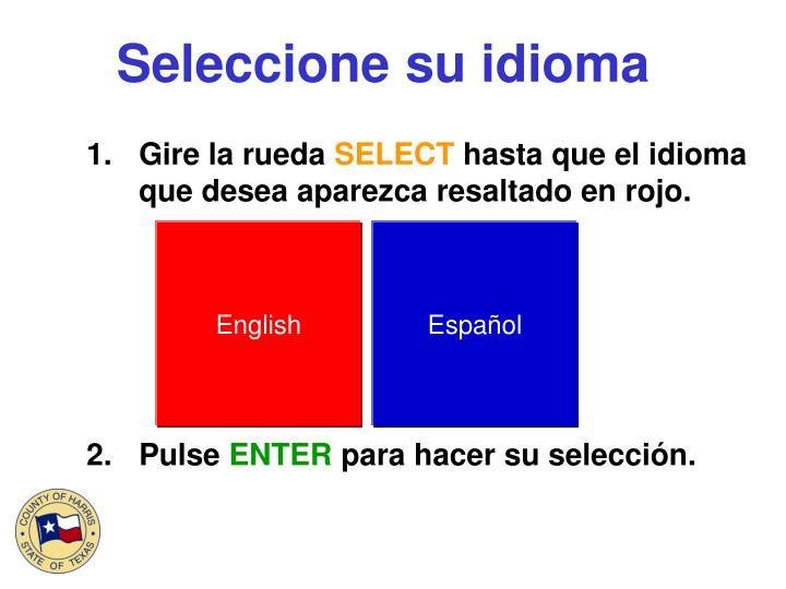 Seleccione su idioma