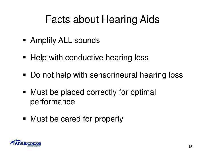 Facts about Hearing Aids