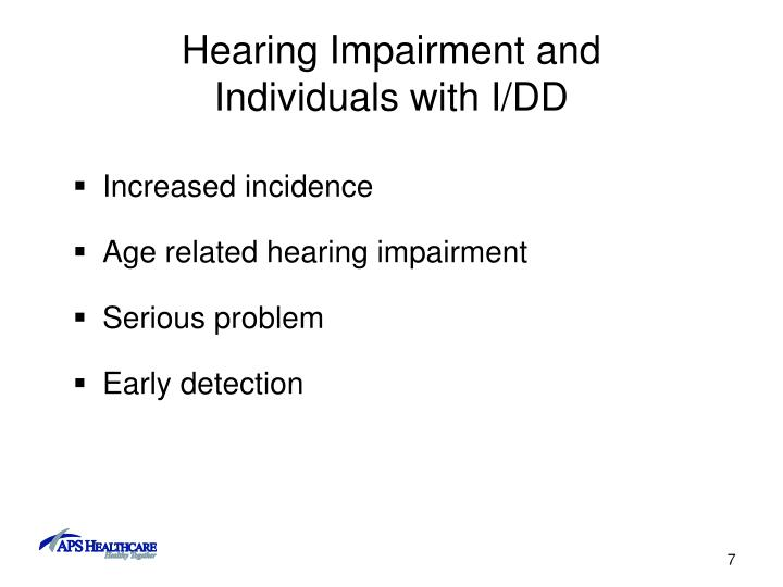 Hearing Impairment and