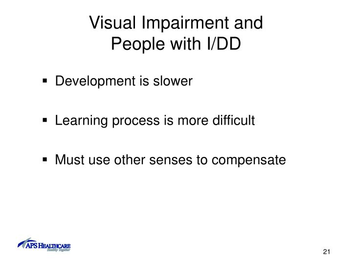 Visual Impairment and