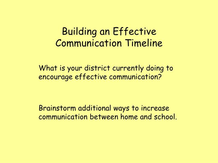 Building an Effective