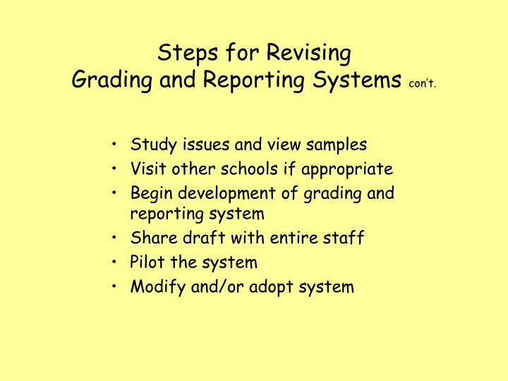 Steps for Revising