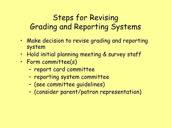 Steps for Revising
