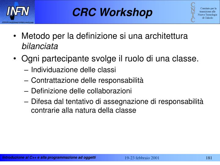 CRC Workshop