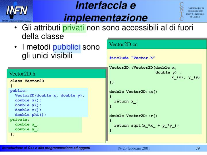Interfaccia e implementazione