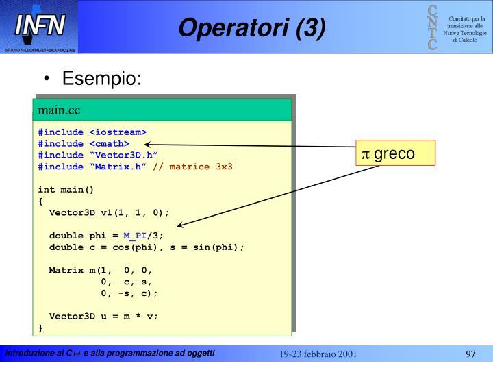 Operatori (3)
